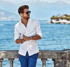 Koszule letnie — męskie stylizacje na każdą okazję od Lancerto