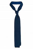 Krawat Szafirowy Dzianinowy
