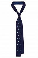 Krawat Granatowy w Paisley