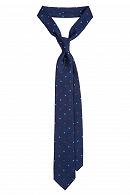 Krawat Granatowy w Gwiazdki
