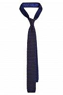 Krawat Granatowy w Żółte Kropki
