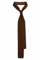 Krawat Brązowy Dzianinowy