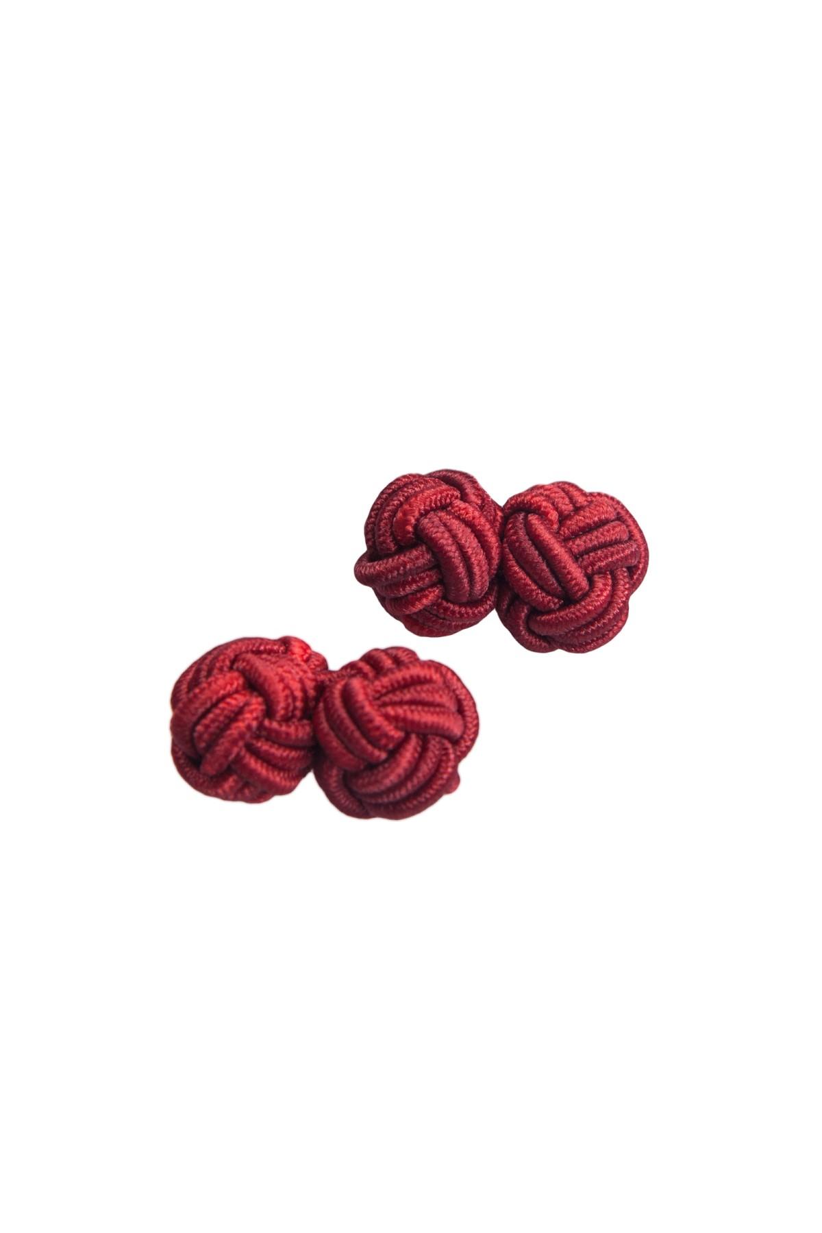 spinki do mankietów spinki węzełki bordowe - lancerto