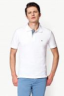 Koszulka Biała Polo Jack Slim
