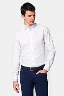 Koszula Biała w Niebieski Wzór Harper
