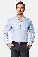 Koszula Błękitna w Kratę Floss