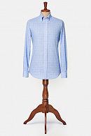 Koszula Błękitna w Kratę Zicavo