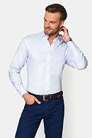 Koszula Błękitna w Białą Pepitkę Hazel