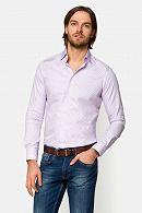 Koszula męska fioletowa w kratę Panama
