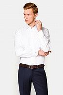 Koszula Biała w Granatowy Wzór Tina