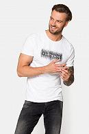 Koszulka Biała z Nadrukiem Jacob