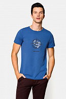 Koszulka męska niebieska Davis