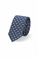 Krawat Granatowy Paisley