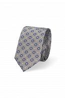 Krawat Szary Wzór Geometryczny