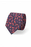 Krawat Granatowo-Czerwony Paisley