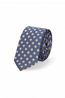 Krawat Granatowo-Brązowy