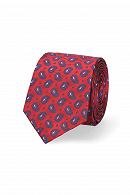 Krawat Czerwony Paisley