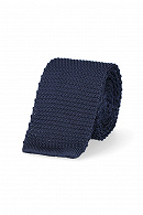 Krawat Dzianinowy Granatowy