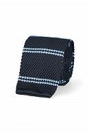 Krawat Granatowy w Niebieskie Paski