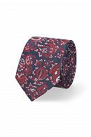 Krawat Granatowo-Bordowy Paisley
