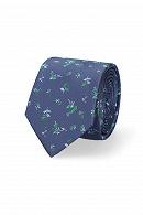 Krawat Granatowy w Kwiatki