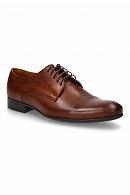 Męskie buty brązowe Dublin marki Lancerto.