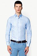 Koszula Błękitna w Kropki Santana